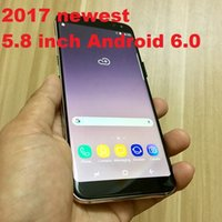 Wholesale Cdma Inch Phone - DHL freeshipping 5.8 inch Surface G8 edge andriod 6.0 smart phone HD Curved Metal Frame 3G WCDMA ROM: 4GB RAM: 1GB.