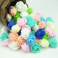 Wholesale Diy Artificial Mini Foam Flower - 1000pcs Mini PE Foam Rose Flower Head Artificial Rose Flowers Handmade DIY Wedding Home Decoration Festive Party Supplies Free Shipping