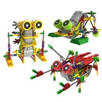 ingrosso costruire motore elettrico-Creativo DIY Assemblage Robot motore elettrico Modelli Costruzione Giocattoli Hobby Bambini Educational Gear Blocchi per ragazzi