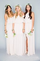 Wholesale Cheap Party Dresses For Ladies - 2017 Cheap Mixed Style Chiffon Long Bridesmaid Dresses Bohemain Country Beach Gowns For Ladies Maid Of Honor Party Dress