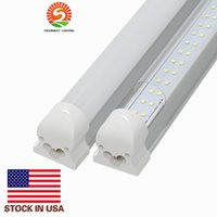 Wholesale Ballast For Lighting - Integrated 4ft T8 led tubes lights 30W Double Rows 192LEDs 1200mm led tube for Cooler Lights AC85-265V ballast compatible led tubes