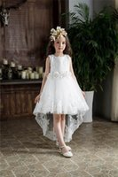 Wholesale Trailing Sash - Retail Korea Girls Dresses Children Summer Party Princess Wedding Birthday Evening Sequin Trailing Ball Gown DM9166