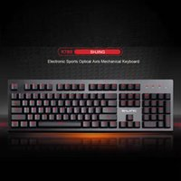 XuanGuang X780 Yes X780 computer keyboard pluggable Internet cafes high quality game keyboard with led light green axis mechanical keyboard