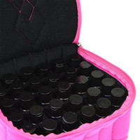 Wholesale Nail Polish Cases - 30 Grid Portable Essential Oil Carrying Case For Nail Polish Bottle Makeup Cosmetic Bag