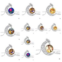 Wholesale Cheap Shipping Beauty - 2017 Jewelry Silver Pendant Beauty and the Beast Necklace Moon Alloy Pendant Art Pendant For Necklace Gifts Jewelry Cheap Free Shipping