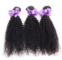 Wholesale Cheap 5a Brazilian Hair - Kinky Curly Weave Brazilian Peruvian Malaysian Indian Mongolian Human Hair Extensions Wefts 3Pcs 8-30inch 5A Virgin Hair Cheap Hair Bundles