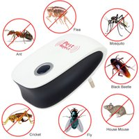 Wholesale wholesale mice rats - Enhanced Version Electronic Cat Ultrasonic Anti Mosquito Insect Repeller Rat Mouse Cockroach Pest Reject Repellent EU US Plug