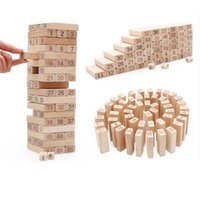 Wholesale stacking blocks online - 2016 adult children intelligence digital layers stacked tall building blocks of high leisure class wooden toys