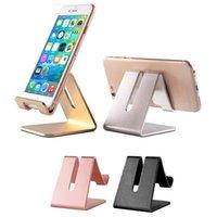 metallstandplatz für iphone ipad großhandel-Universal handy tablet schreibtisch halter luxus aluminium metall stehen für iphone ipad mini samsung smartphone tabletten laptop