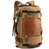 Wholesale Vintage Fabric Designs - New design travel backpack vintage leirsure travel shoulders bag big capacity men handbag With Model K0208