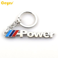 Wholesale Bmw X5 Accessories - Car Key Ring Key Chain M-Power Emblem Badge For bmw e70 x5 e82 e92 e93 m3 x1 e87 e46 Auto Accessories Car Styling