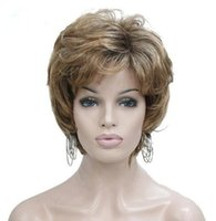 Wholesale short hair wigs fluffy synthetic - Women's Short Straight Mix Color Blonde Wig Fluffy Synthetic Hair wigs
