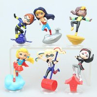 Wholesale Female Figures - 6 female superman action figures Decoration Supergirl Wonder Woman Batman Clown Girl Super Female Hero Hand