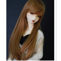 Wholesale Doll Wigs Long - 1 3 1 4 BJD Doll Wigs High Temperature Wire Long Straight Hair for Dolls Accessories,Fashion Synthetic Doll Hair Wigs for Dolls
