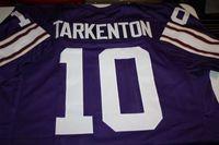 Wholesale Qb Jersey - Cheap Retro #10 FRAN TARKENTON QB CUSTOM HOME JERSEY Stitching men's football jerseys
