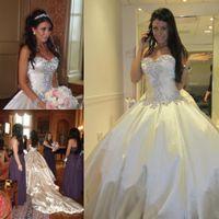 Wholesale wedding dress princess pnina resale online - Pnina Tornai Wedding Dresses Romantic Ball Gown Sparkly Crystal Beaded Long Dream Princess Church Bridal Party Gowns