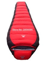 Wholesale Mummy Sleeping Bag Duck Down - Wholesale- Outdoor WinterDown Sleeping Bag Mummy Type Duck Down Cold Thickening Down Sleeping Bag Camping -25 Degree