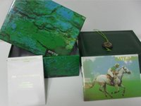 Wholesale Folded Paper Cards - 2017 Free Shipping Green Brand Watch Box Papers Card Purse Gift Boxes Handbag For 116610 116660 116710 Watches