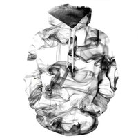 Wholesale Free Fashion Sketches - sweatshirt Hoodie Men or women Cool creative 3D print colorful Sketch smoke hot Style Autumn Winter Streetwear Clothing free shipping