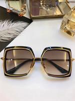 Wholesale 24k Gold Designer - Designer sunglasses NARCISSUS titanium sunglasses 24K gold-plated retro style square frame coating mirror lens with original box