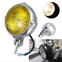 Wholesale Head Light Yamaha - Universal Vintage Motorcycle Headlight Head Lamp Phares Moto For Yamaha Honda Suzuki Kawasaki Harley Touring Lights