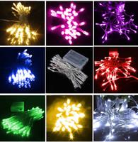 açık hava düğün pilleri ışıkları toptan satış-1 M 10 Led Dize Noel Işıkları Peri Açık Bahçe Düğün Parti Led Dizeleri Pil Renkli