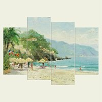 Wholesale beach art decor for sale - Group buy No frame The beach series HD Canvas print Wall Art Oil Painting Textured Abstract Pictures Decor Living Room Decoration