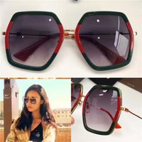 Wholesale Wrap Top Red - New fashion women designer sunglasses irregular crystal sequins frame top quality summer style bee series protection eyewear 0106
