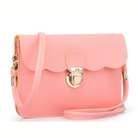 Wholesale Thin Messenger Bag - Wholesale-Casual Small Women Bags pu Leather Messenger Bag Envelope Bag candy color Handbag Purse Sling Crossbody Shoulder Bag Thin XD2654