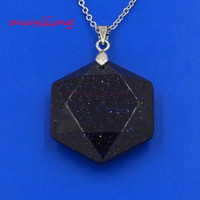 Wholesale Wholesale Rhinestone Star Pendants - Necklaces & Pendants Cutting Six-pointed Star Pendant Necklace Chain Gold Plated Crystal Opal etc Charms Pendulum Fashion Women Mens Jewelry