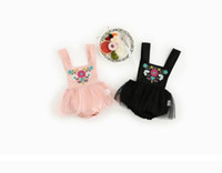 Wholesale Gauze Romper - INS hot styles New Arrivals baby girl Cotton embroidery Ethnic style romper infant girl Summer Gauze skirt romper