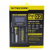 Wholesale Digital Universal Charger - Original Nitecore D2 Digital Battery Charger Universal Intelligent LCD Display Chargers For Sony VTC5 Samsung 25r LG HG2 18650 Batteries