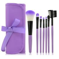 Wholesale Model Kit Set - Direct manufacturers 7 portable models makeup brush makeup brush set button bandage paragraph beauty tools explosion
