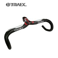 Wholesale Types Bicycle Handlebars - New Compact Type Road Bike 3K Full Carbon Bicycle Handlebars And Stem Integrated 400 420 440*90 100 110 120mm Free Shipping
