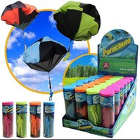 Wholesale Parachute toys Outdoor Sports Hand Throw Soldier Parachute Toy Parachute Launcher With Figure Soldier Outdoor Play Games KKA1438