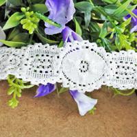 Wholesale Underwear For White Dress - Free shipping 3.5cm Width White Stretch Lace Trim(EL014) 15 yds lot White Floral Trims Vintage style lace for underwear Decor Dresses DIY