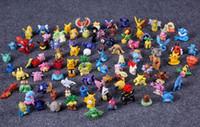 Wholesale Pikachu Mix - 97 pcs lot Action Figures Toys Cartoon Anime Mixed 2-3cm Pikachu Figures Toys For Kids Gift