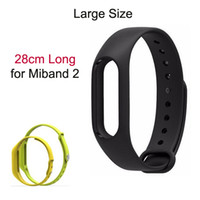 Wholesale Free People Bracelets - Free Shipping Large Size 28cm Replacement Band Strap for Xiaomi Miband 2 Smart bracelet Wristband Special for Big Wrist People