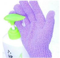 Wholesale Shower Bath Exfoliating Gloves - Shower Exfoliating Wash Skin Spa Foam Bath Glove Massage Loofah Scrubber Skin Body Wash Massage Scrub