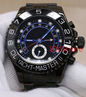 Wholesale new round glasses resale online - 2020 New Black Watch mm Automatic Movement Mechanical Mens Stainless Steel Watches Sapphire glass Wristwatches btime