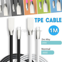 Wholesale Diamond Phone Plug - Micro USB Cable 1M 3.3ft Diamond shaped High Speed TPE Cable Tangle Free Zinc Alloy Plug USB 2.0 Sync Data Cable For Android Smart Phone