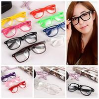óculos geek venda por atacado-Hot óculos de sol unisex óculos de sol rebite óculos de sol retro cor unisex do punk geek estilo limpar óculos de lentes yya154
