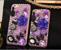 Hand-made 3D Bling Shine Shaped Diamond Stones Rhinestone Luxury Hard Phone Чехол для iPhone5 / 5s / SE / 6 / 6S / 7/7 Plus Samsung Разное Телефон