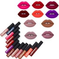 Wholesale tattoo lips tint for sale - Brand Colors Tint liquid Lipstick Matte Lip Gloss Red Velvet Waterproof Long Lasting Lipgloss Sexy Lipstick Tattoo Makeup