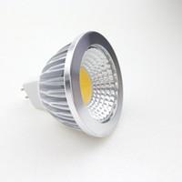 12v led açık beyaz toptan satış-12 V LED MR16 COB Spot Işık Ampüller 3 W 5 W 12 Volt Süngü Parçaları Kabine Aşağı Lamba Spot Ampul Sıcak beyaz Soğuk beyaz Enerji Tasarruflu Ampul