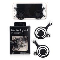 Wholesale game dual joystick resale online - Hot selling Mobile Phone Joystick android ios Cell phone gamepads joystick Touch Screen Game Joypad Dual stick Joysticks