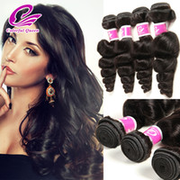 Wholesale human loose curl hair bundles for sale - Group buy Cheap Malaysian Human Hair Weave Loose Wave Virgin Hair Bundles Wet and Wavy Malaysian Virgin Hair Loose Bouncy Curl Colorful Queen