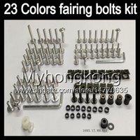 Wholesale Ninja Fairing Zx6r 97 - Fairing bolts full screw kit For KAWASAKI NINJA ZX6R 94 95 96 97 ZX-6R 6 R ZX 6R 1994 1995 1996 1997 Body Nuts screws nut bolt kit 13Colors