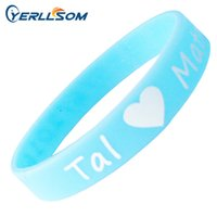Wholesale Customize Rubber Bracelets - 600PCS Lot Customized Screen printing 1 color Personalized Centense Rubber Wristbands For Events Y061506