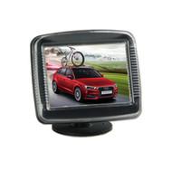 mensajes de video al por mayor-Monitor de coche de 3.5 pulgadas Entrada de video de 2 vías Vista posterior de automóvil TFT LCD Muestra automáticamente cuando se invierte la publicación gratuita